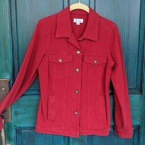 NWOT Red Denim Jacket